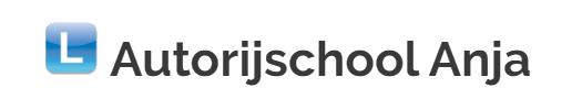 Logo autorijschool anja transparant